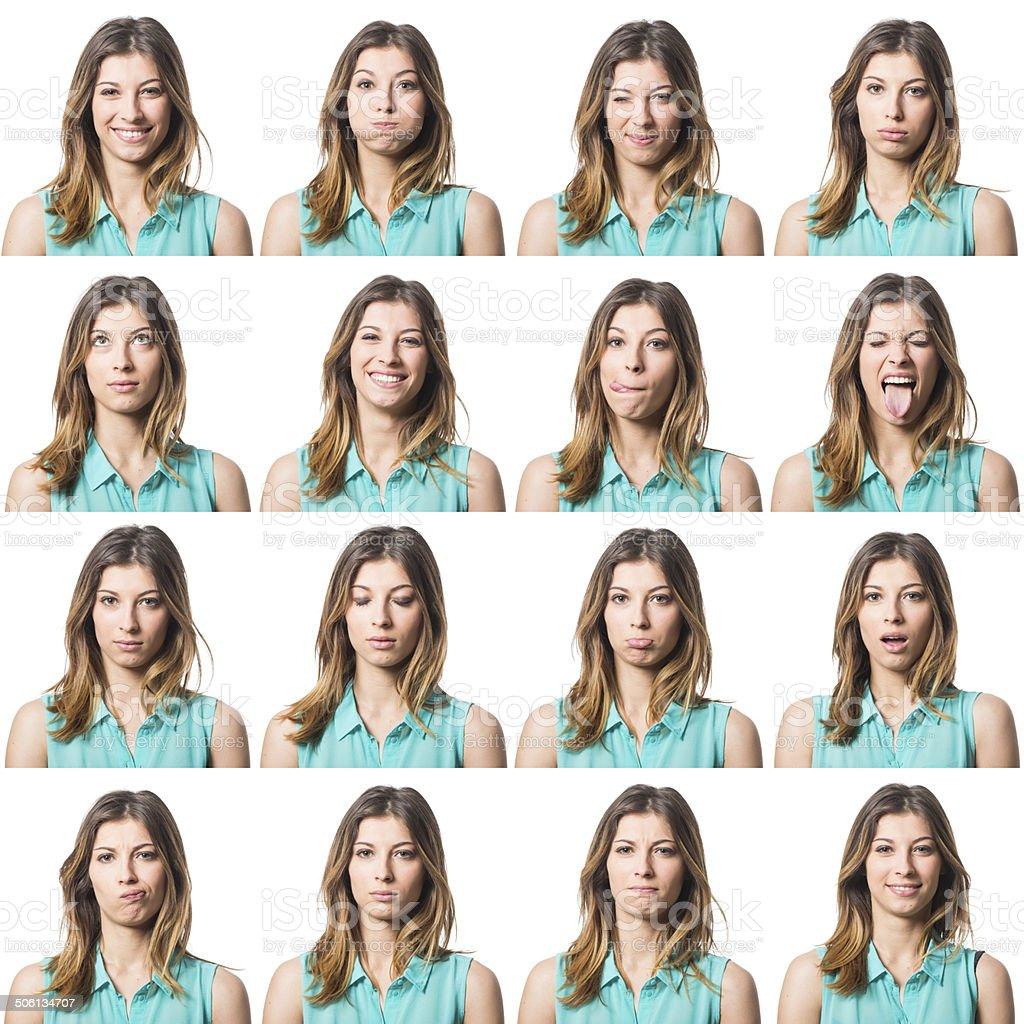 Multiple facial galleries