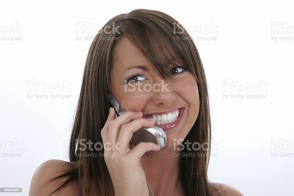 Beautiful Young Woman On Cellphone royalty-free stock photo