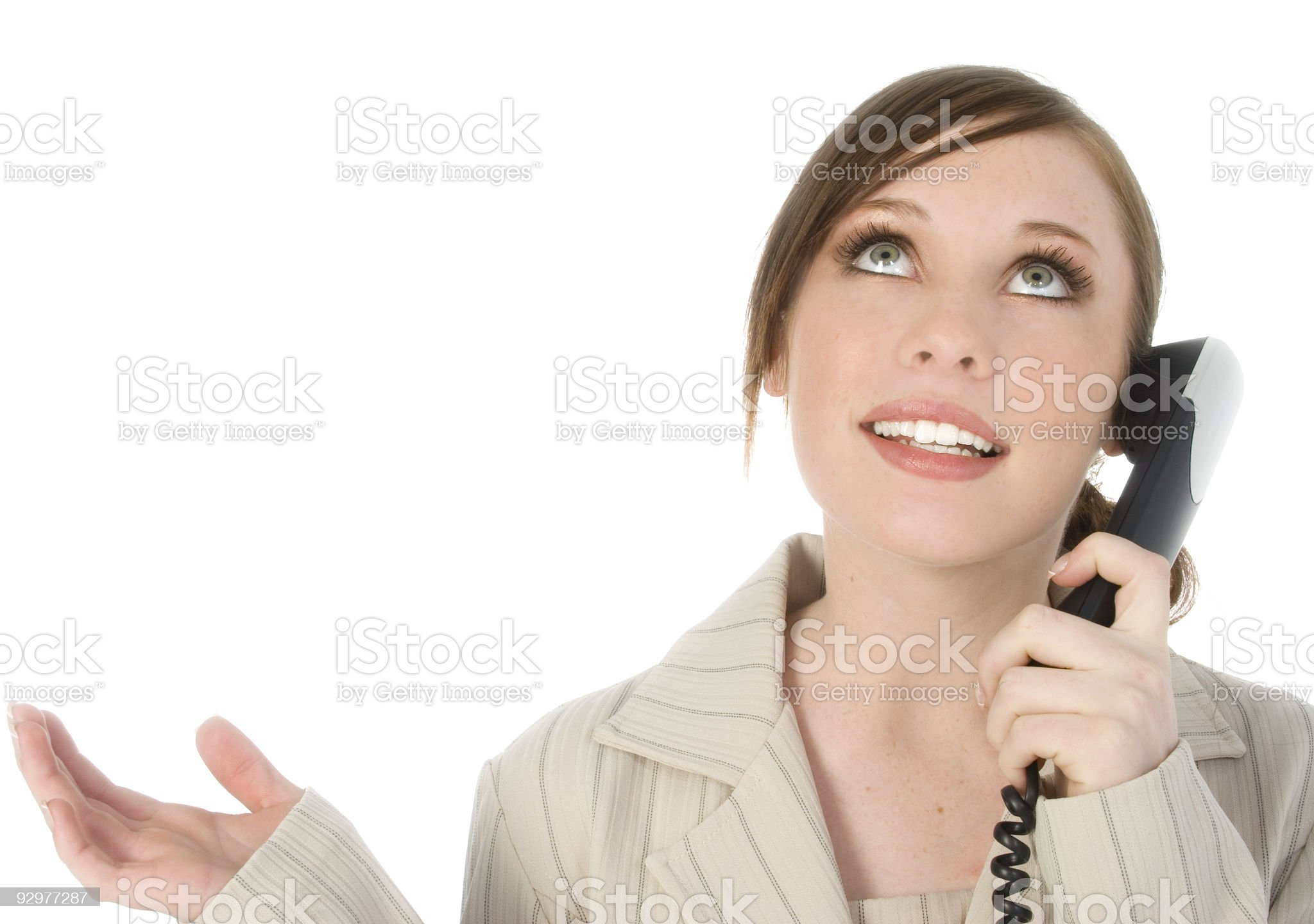 Beautiful Young Woman On Phone royalty-free stock photo