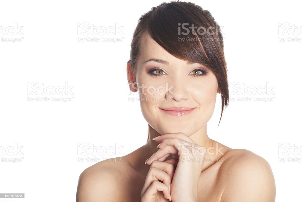 Schöne junge Frau Lizenzfreies stock-foto