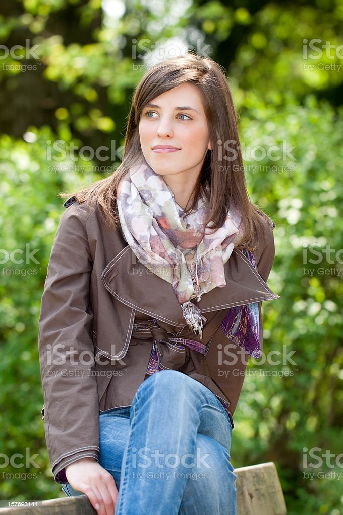 Beautiful Young Woman Portrait, Color Image royalty-free stock photo
