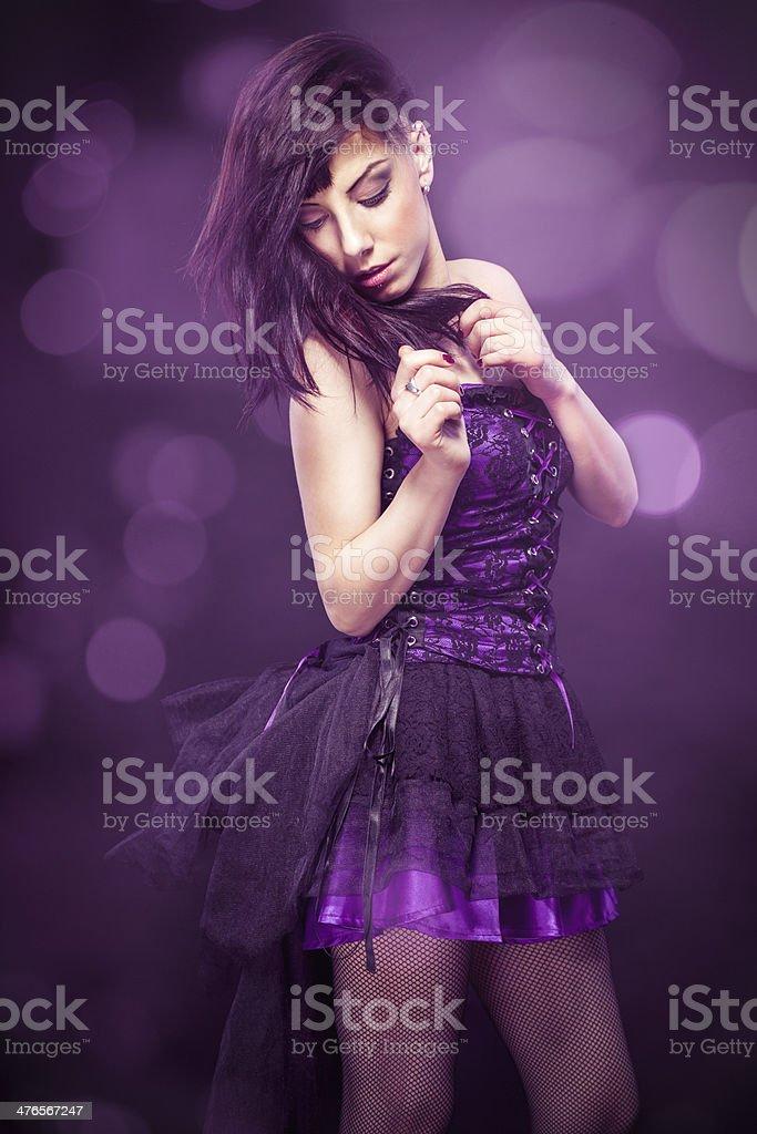 Beautiful young woman posing royalty-free stock photo