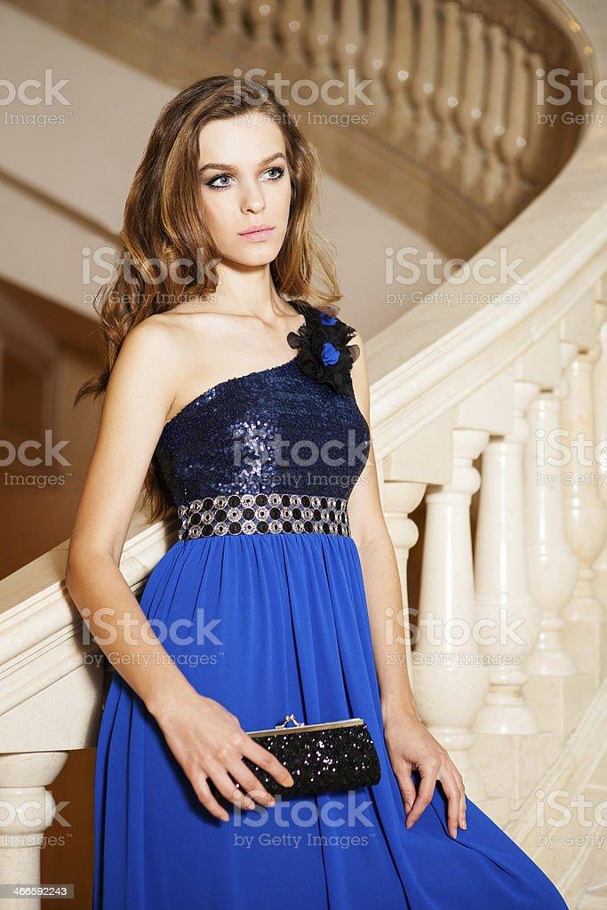 Beautiful young woman waiting royalty-free stock photo