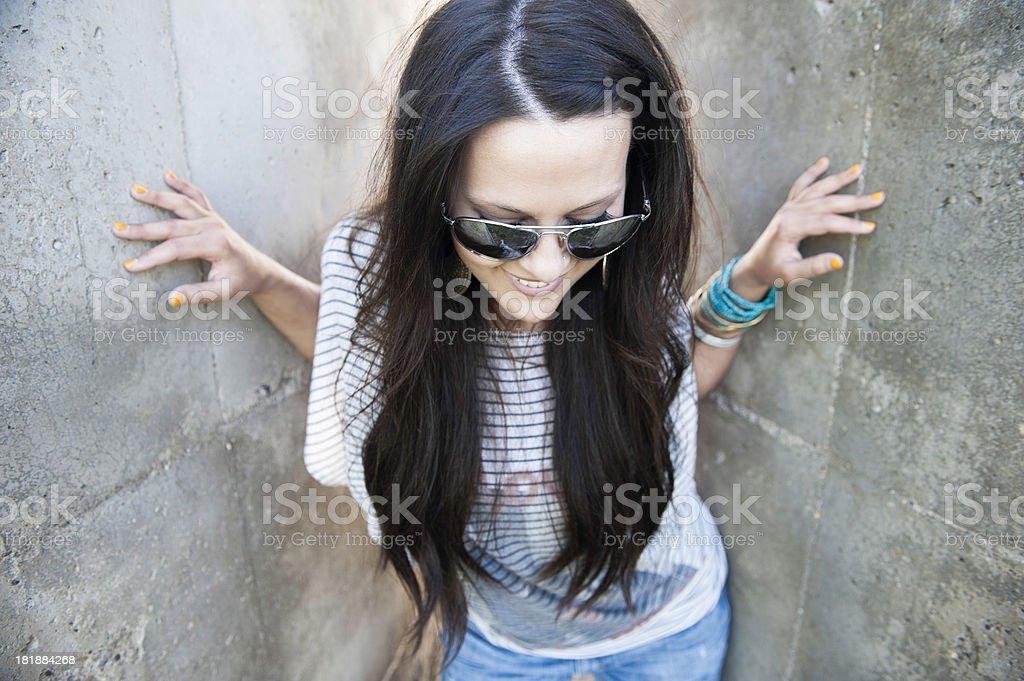 Beautiful Young Woman Wearing Sunglasses royalty-free stock photo