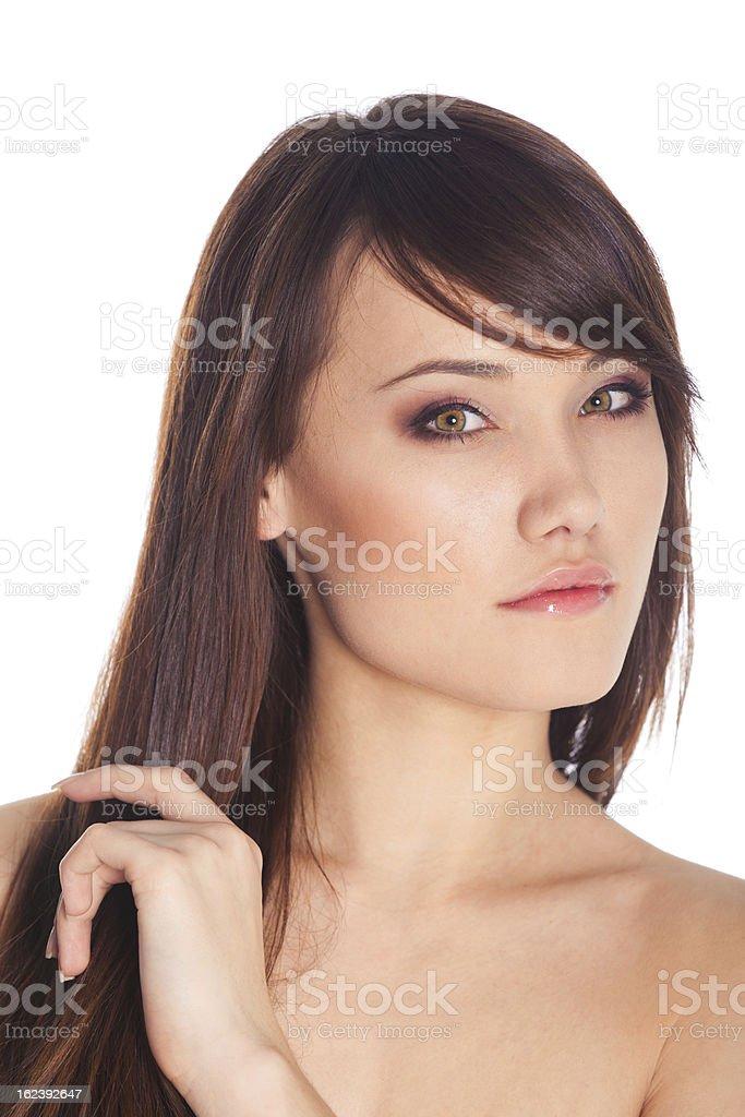 Schöne Junge Frau mit saubere Haut Lizenzfreies stock-foto