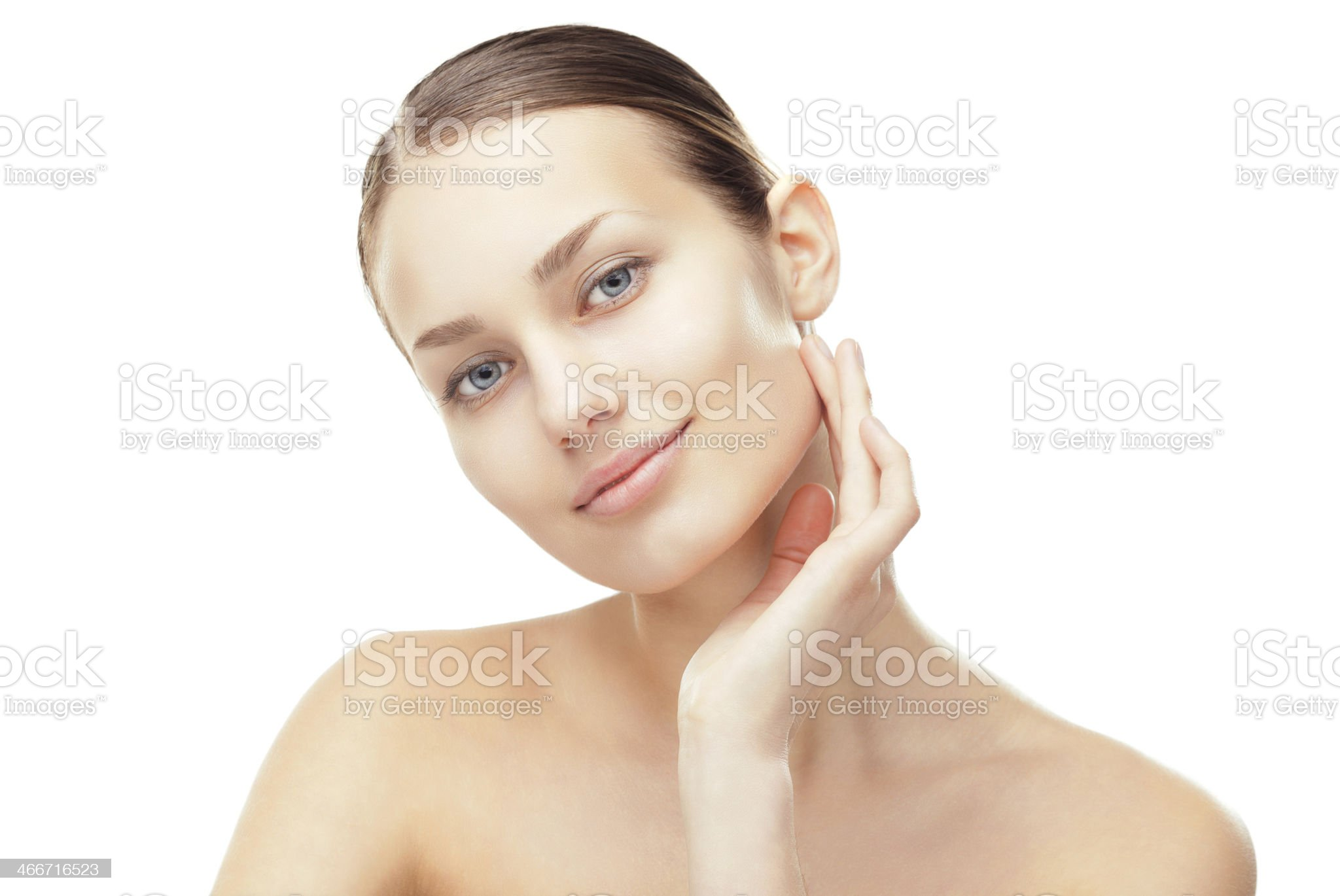 Beautiful young woman with healthy clean skin royalty-free stock photo