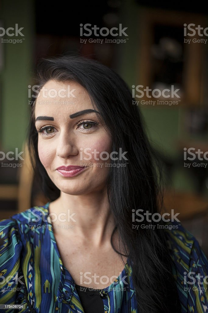 Beautiful Young Woman with Very Cute Smile royalty-free stock photo