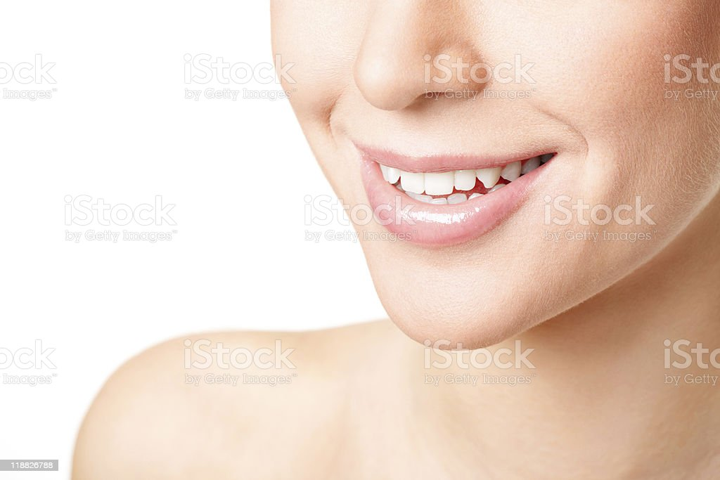 Beautiful young woman's face fragment. royalty-free stock photo