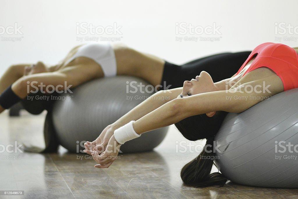 Beautiful young women stock photo