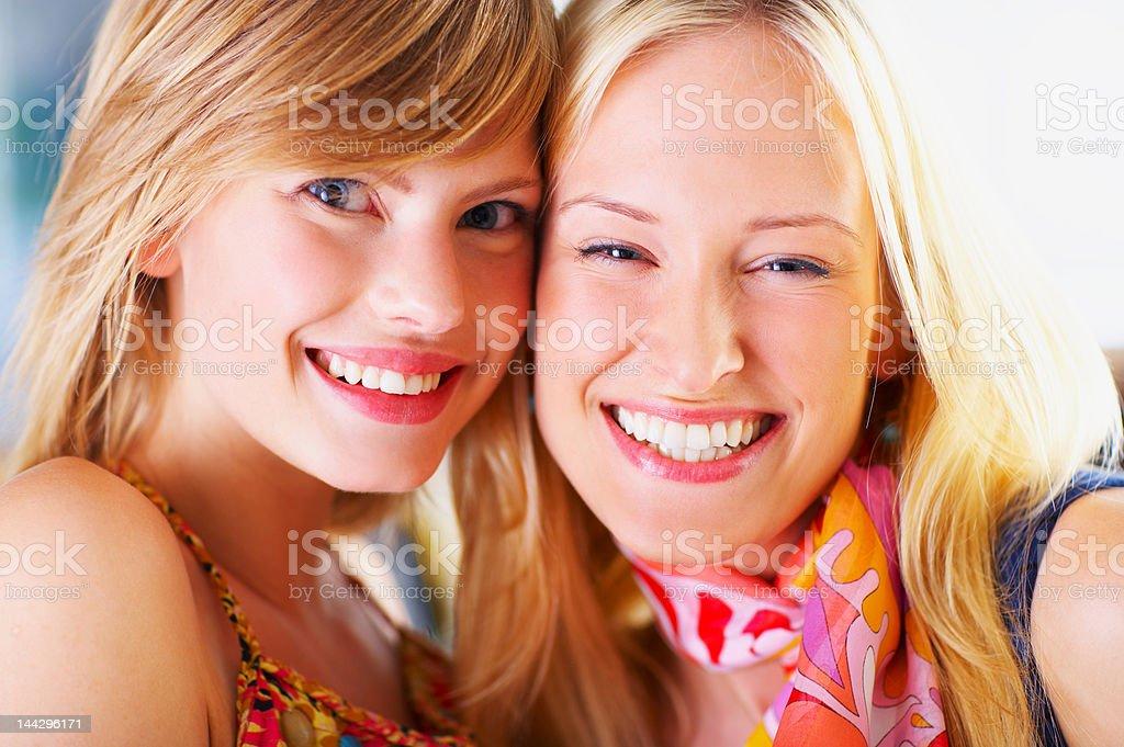 Beautiful young women smiling royalty-free stock photo