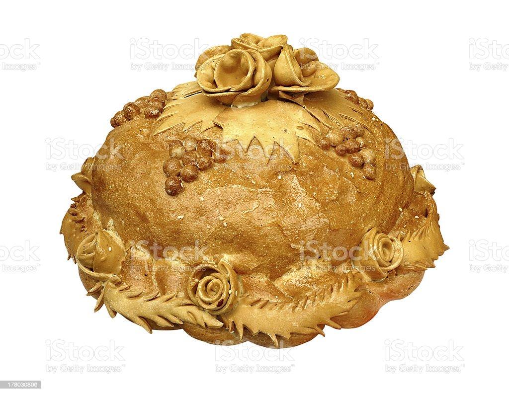 Beautifull fazer pão isolado sobre branco foto de stock royalty-free