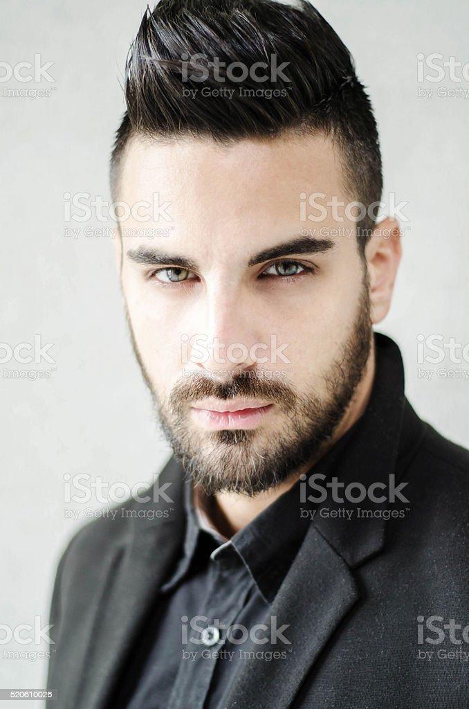 Beautifull black businessman posing stock photo