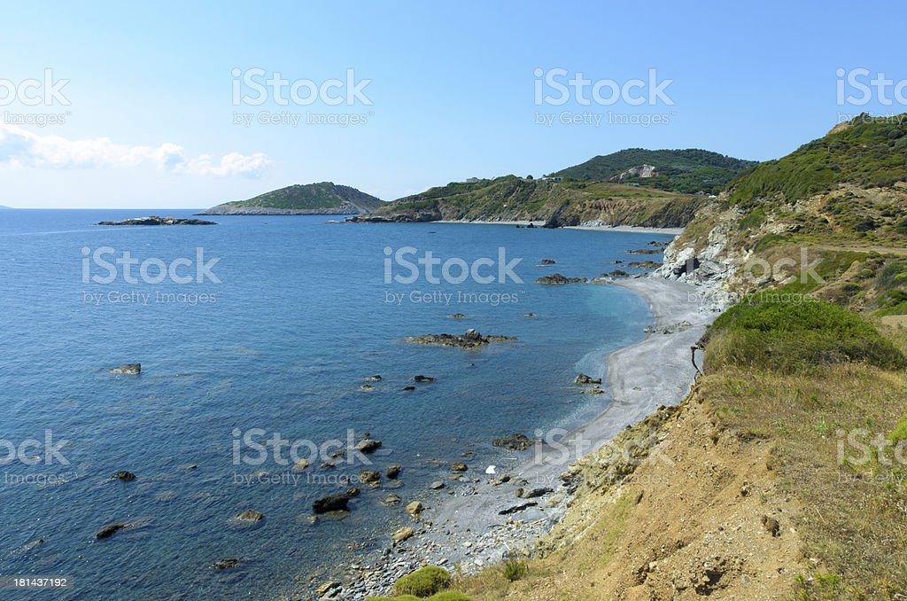 Beautifull coastline cliffs royalty-free stock photo