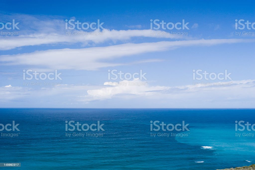 Beautifull day looking out over the Pacific Ocean stock photo