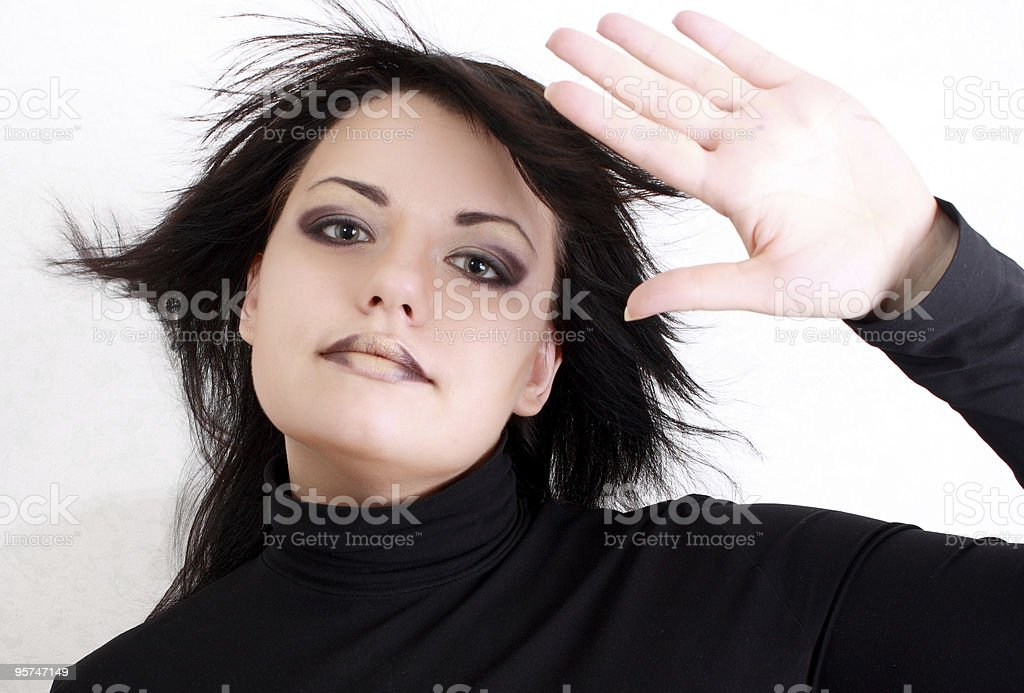 Beautifull girl with  makeup royalty-free stock photo