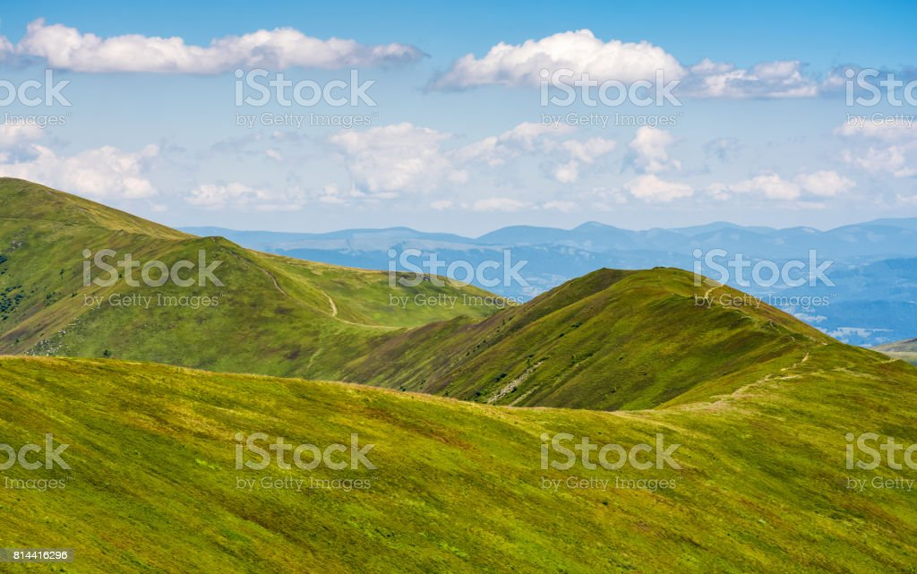 beautifull minimalistic summer mountain landscape in good weather stock photo