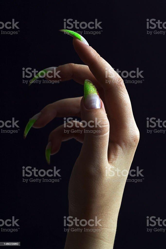 Beautifull woman hand. royalty-free stock photo