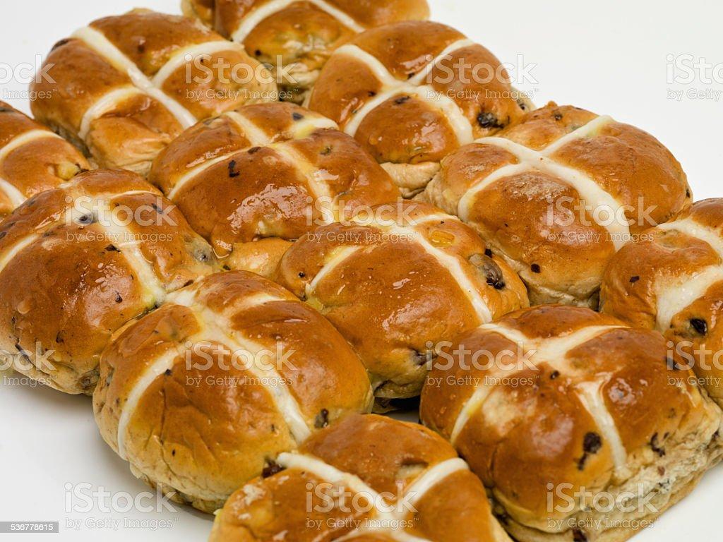 Beautifully baked buns stock photo