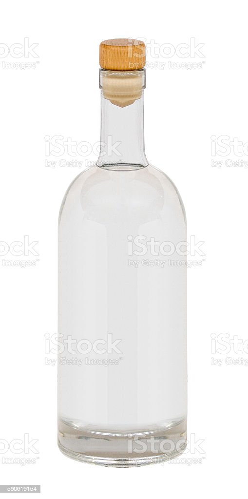 Beautifully Clear vodka Bottle stock photo