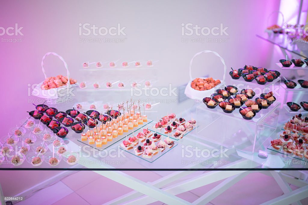Beautifully decorated catering stock photo