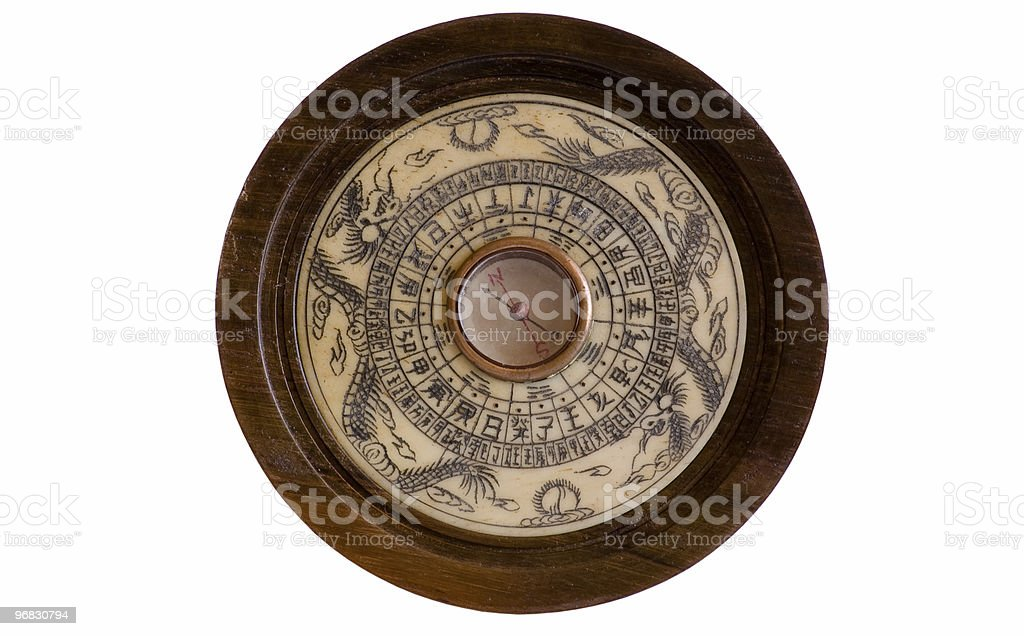 Beautifully Decorated Chinese Compass stock photo
