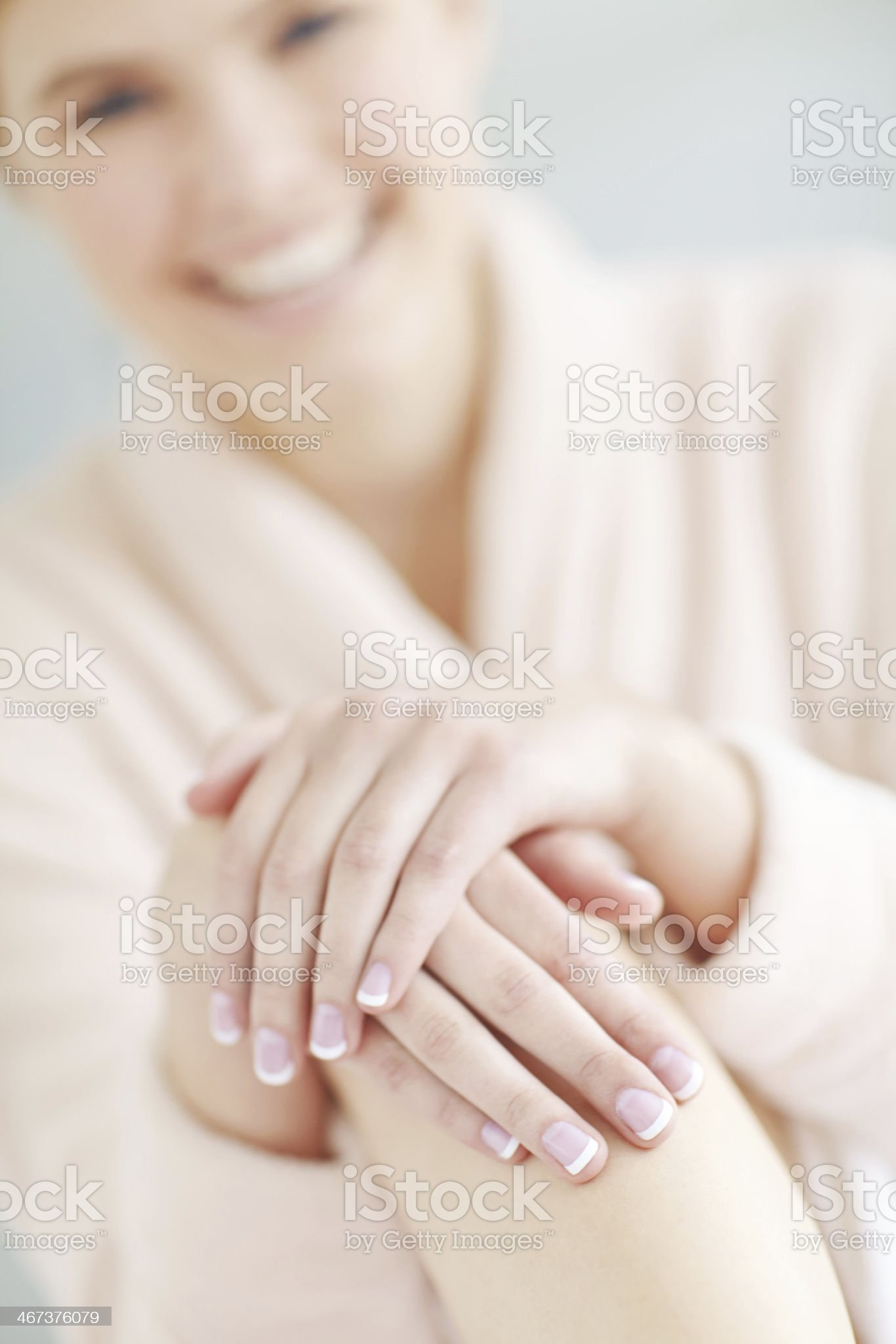 Beautifully manicured hands royalty-free stock photo