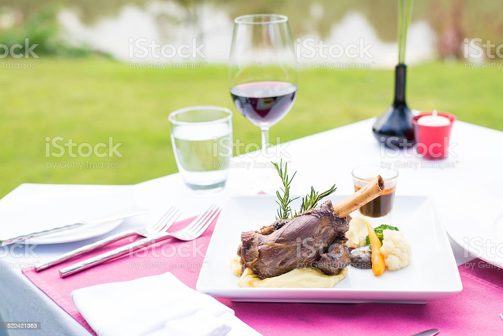 beautifully served table stock photo