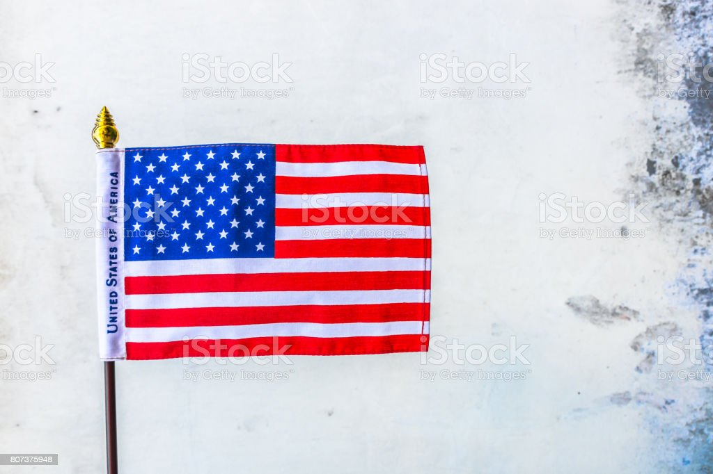 Beautifully star and striped United States of America flag stock photo
