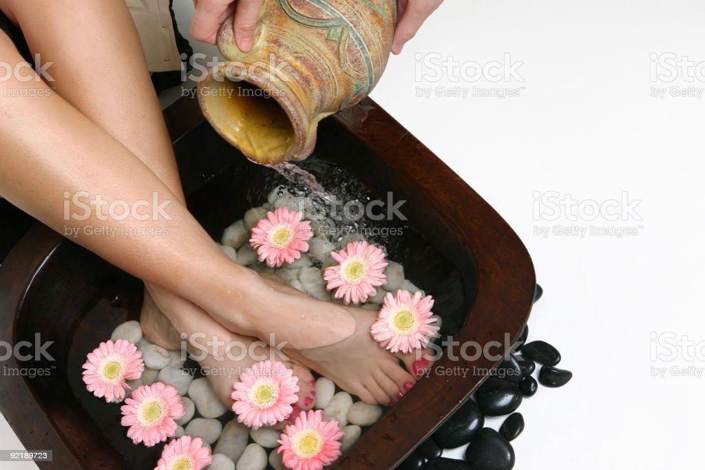 Beautifying feet treatment royalty-free stock photo