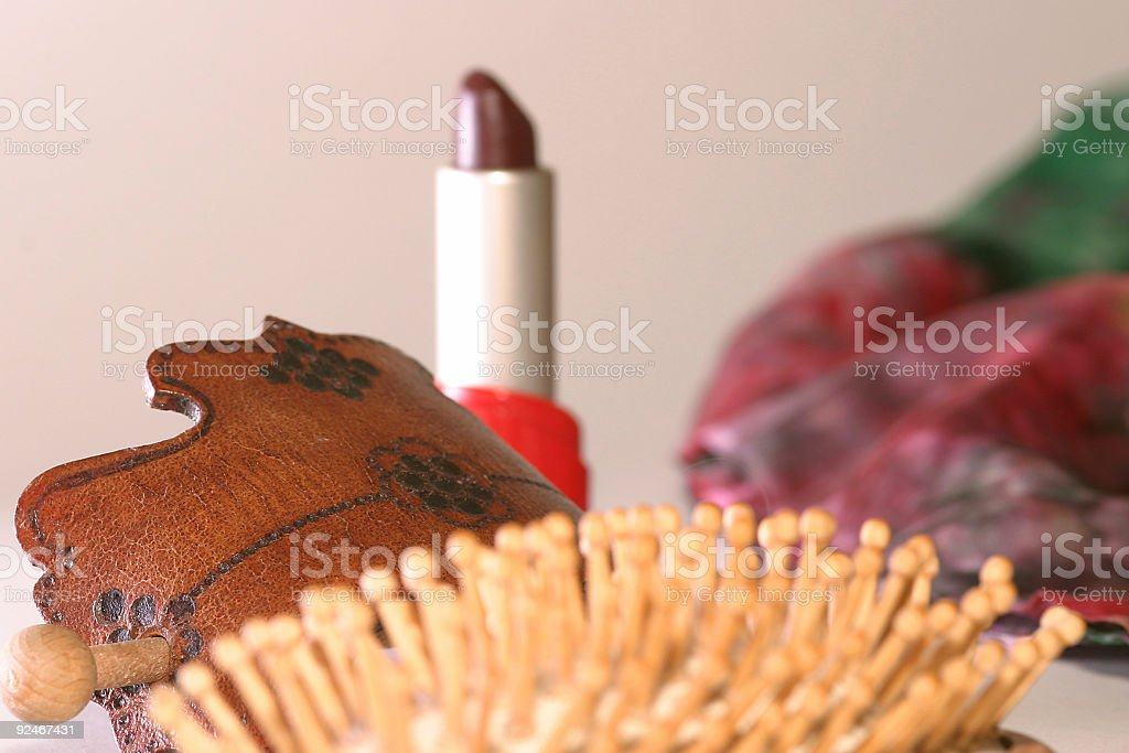 Beauty accessories royalty-free stock photo