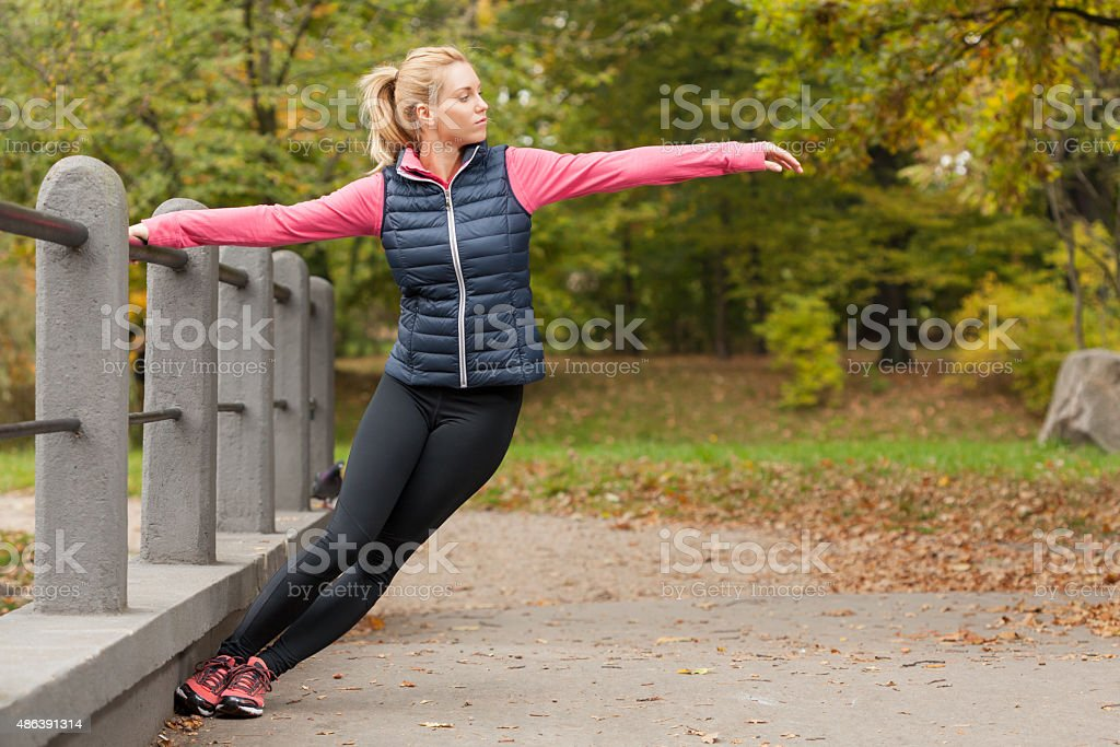 Beauty active woman stock photo