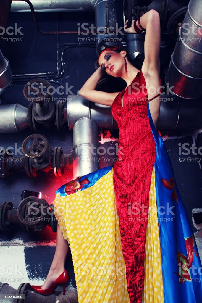 Beauty and a pipeline royalty-free stock photo
