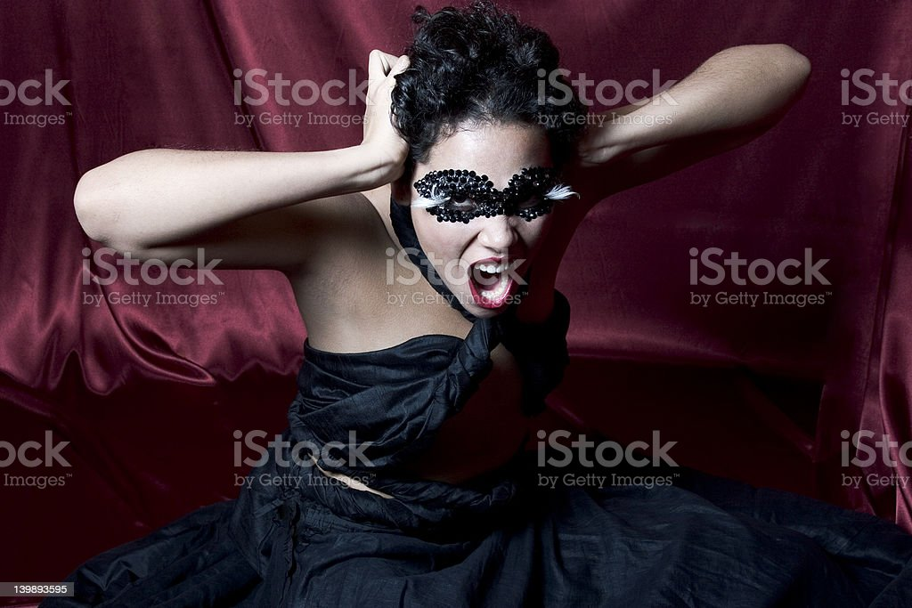 Beauty and Anger royalty-free stock photo