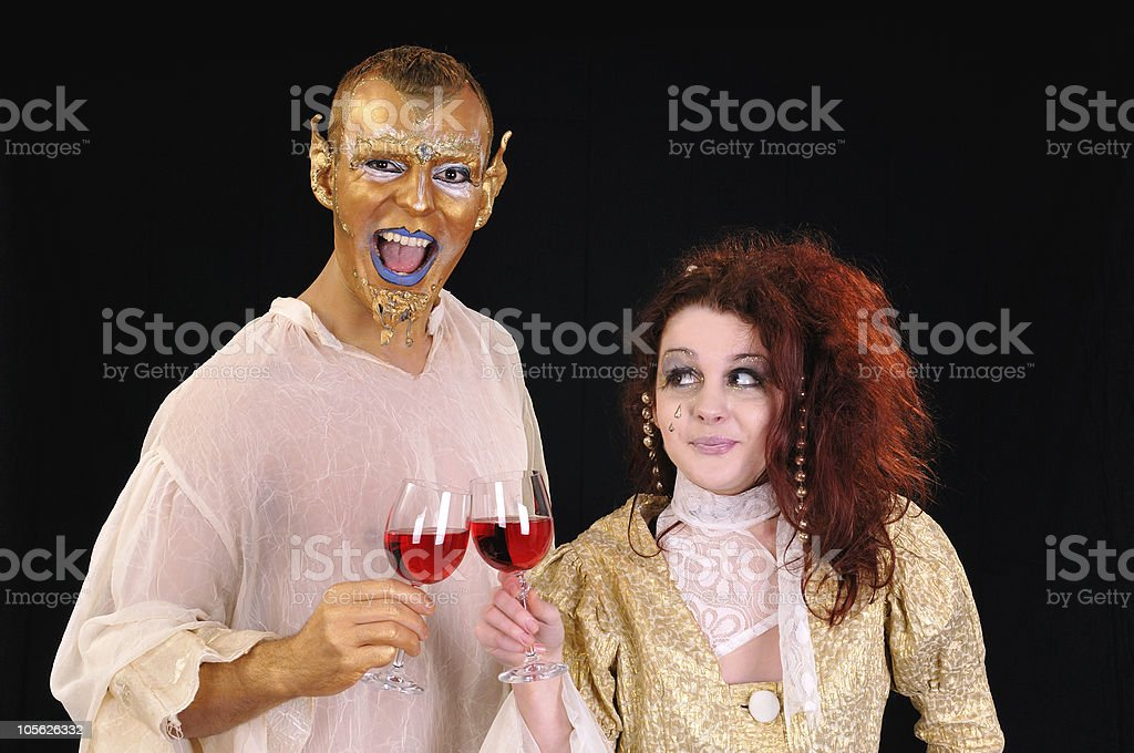Beauty and beast royalty-free stock photo
