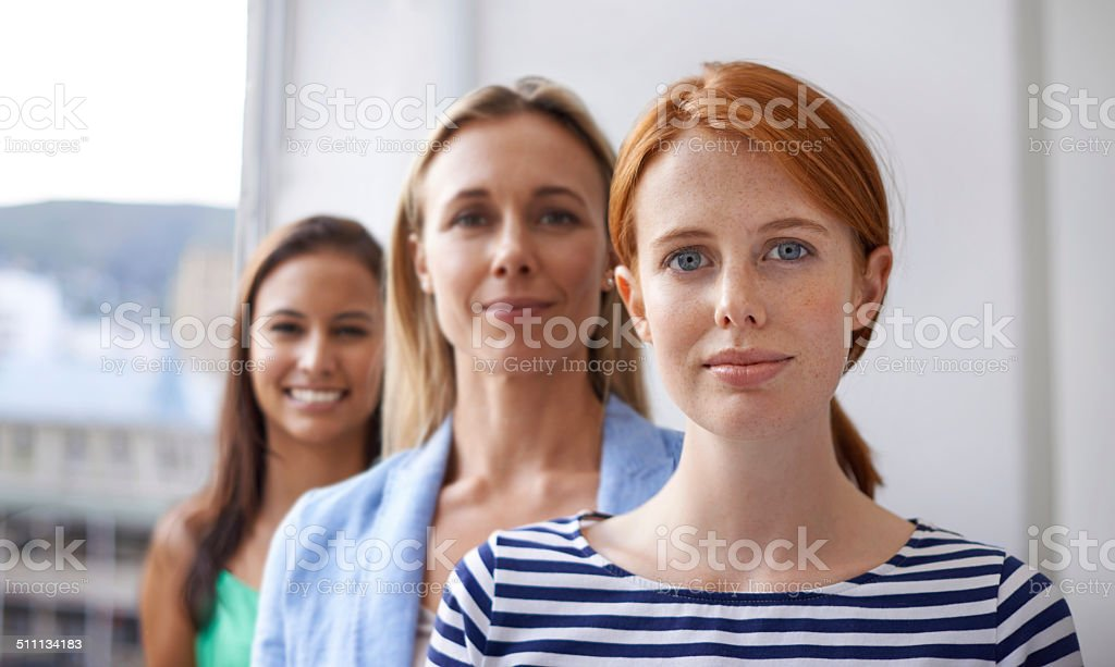Beauty and diversity in business stock photo