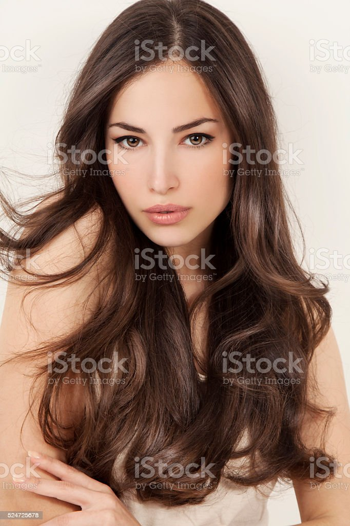 beauty and hair stock photo