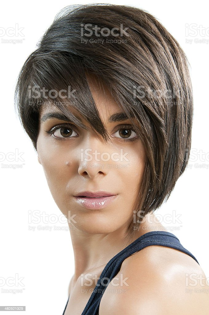 Beauty and hairstyle royalty-free stock photo