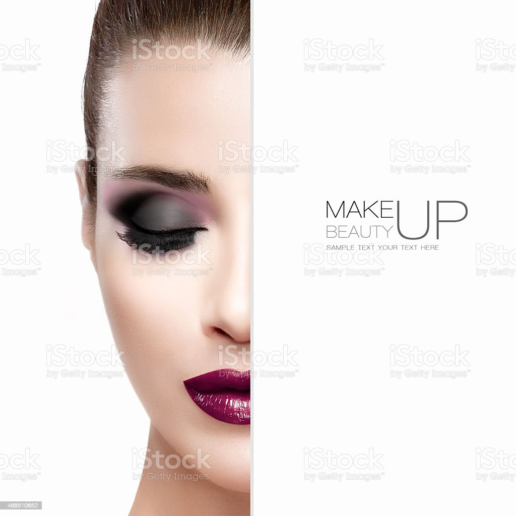 Beauty and Makeup concept. Beautiful Fashion Model Woman stock photo