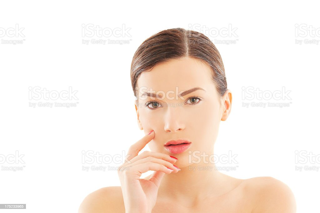 Beauty and make-up royalty-free stock photo