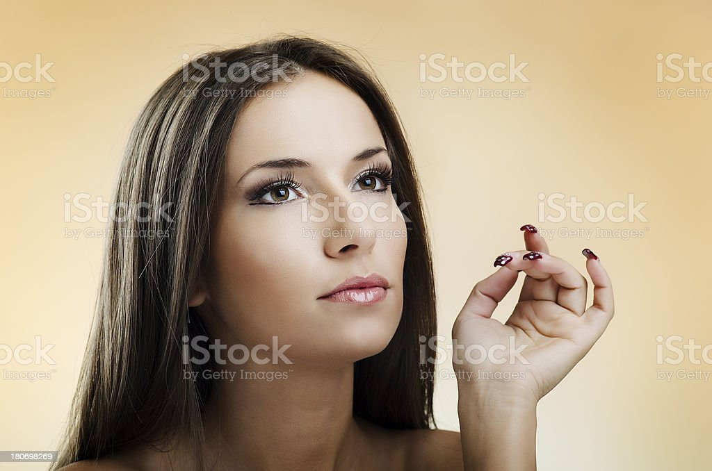 Beauty and makeup royalty-free stock photo