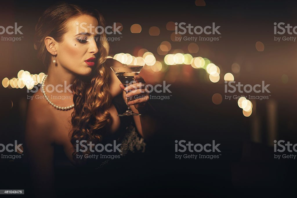 Beauty and martini royalty-free stock photo