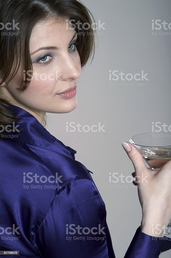Beauty and martini stock photo