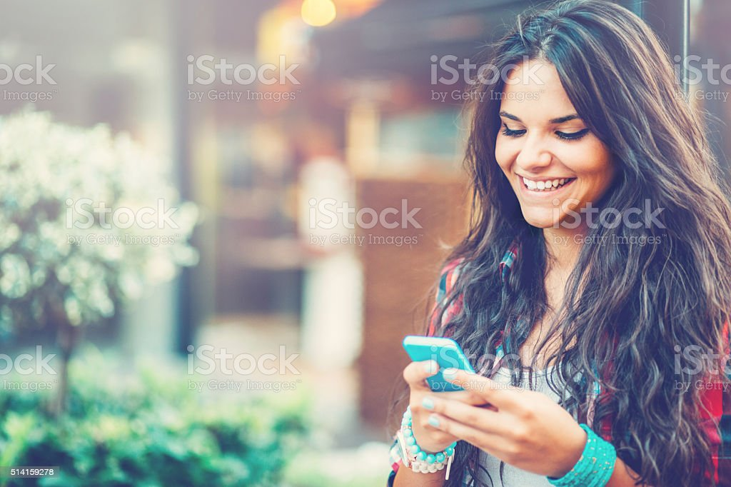 Beauty and technology stock photo