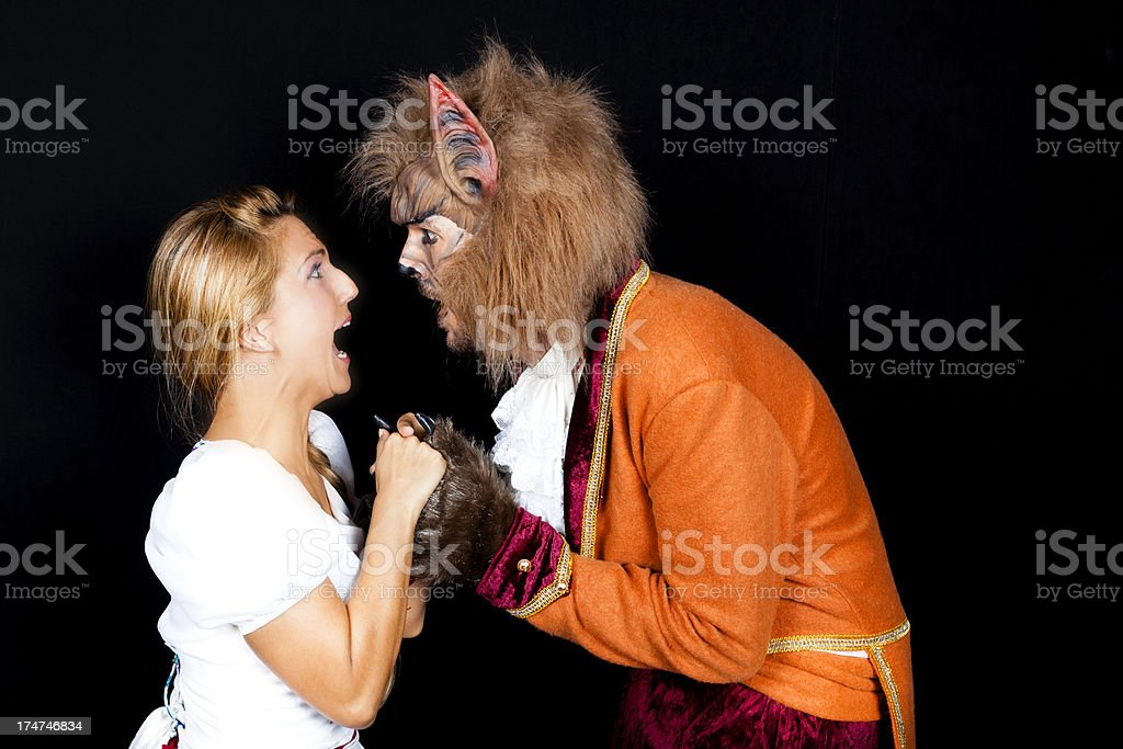 Beauty and the Beast. stock photo