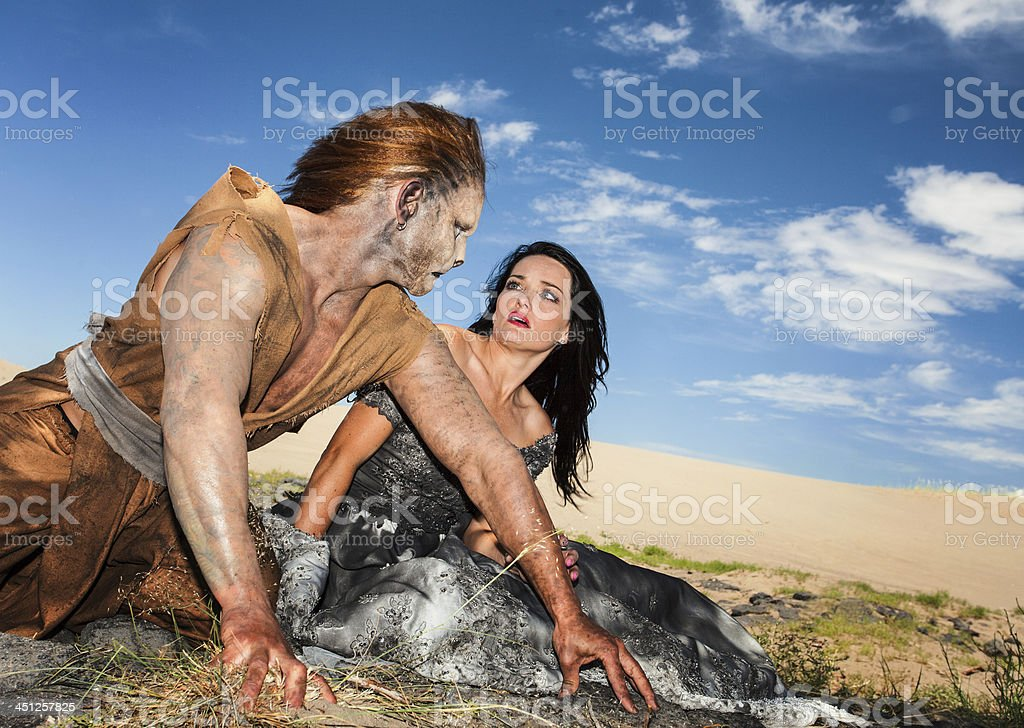 Beauty and the Beast royalty-free stock photo