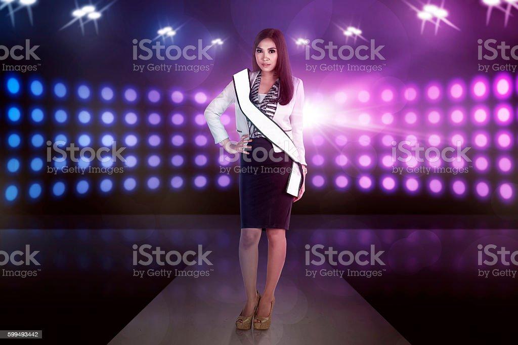 Beauty asian model woman pose stock photo