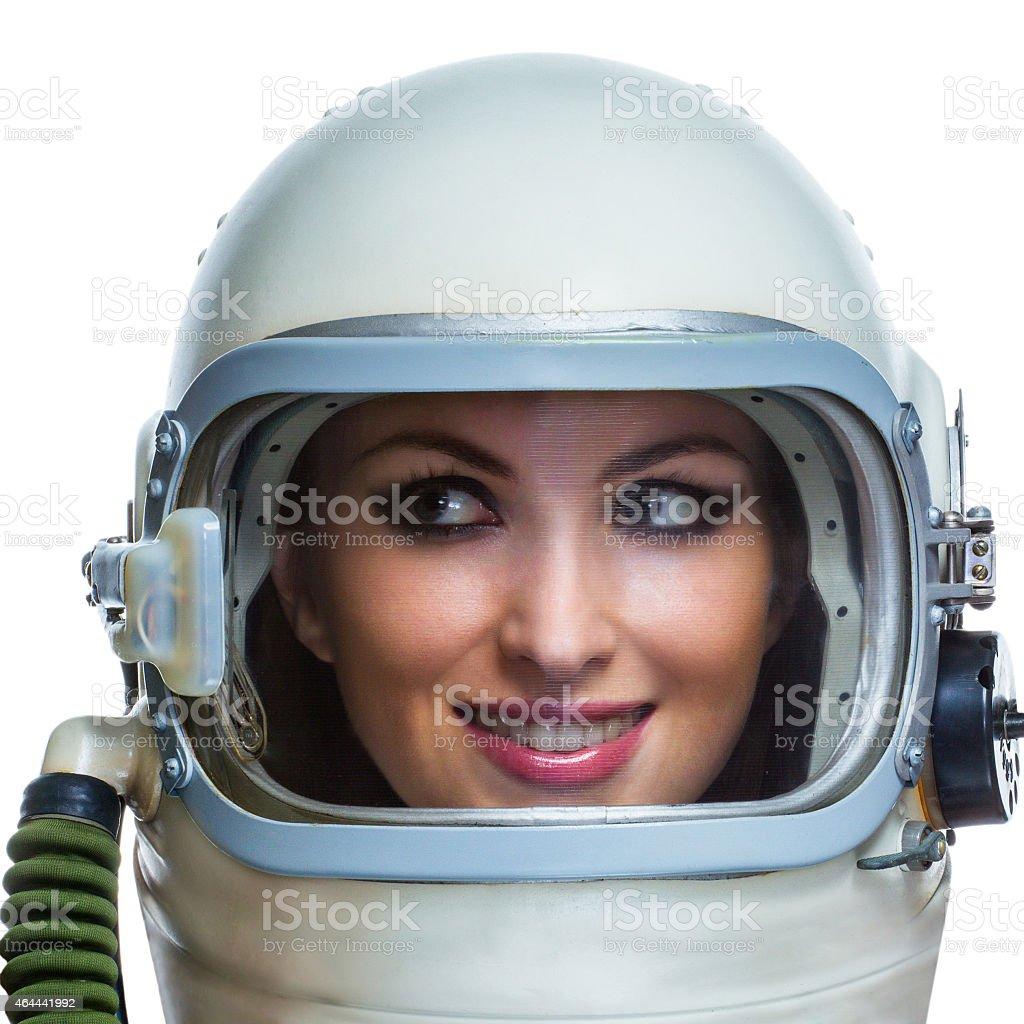 Beauty astronaut stock photo