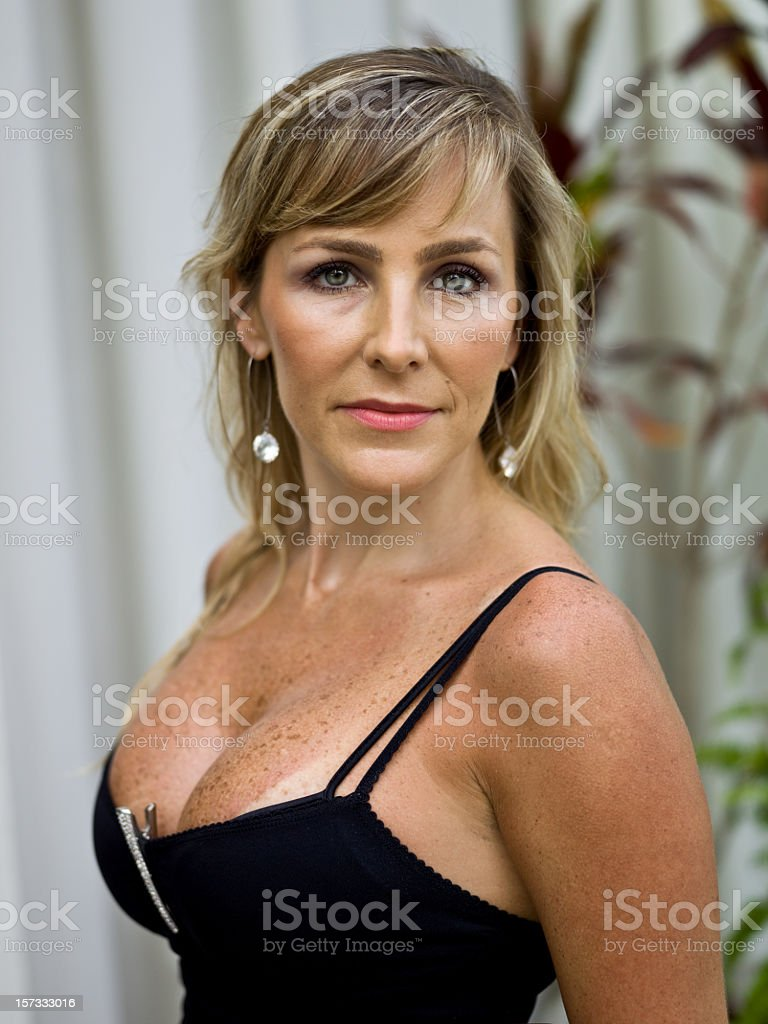 Beauty at her forties stock photo