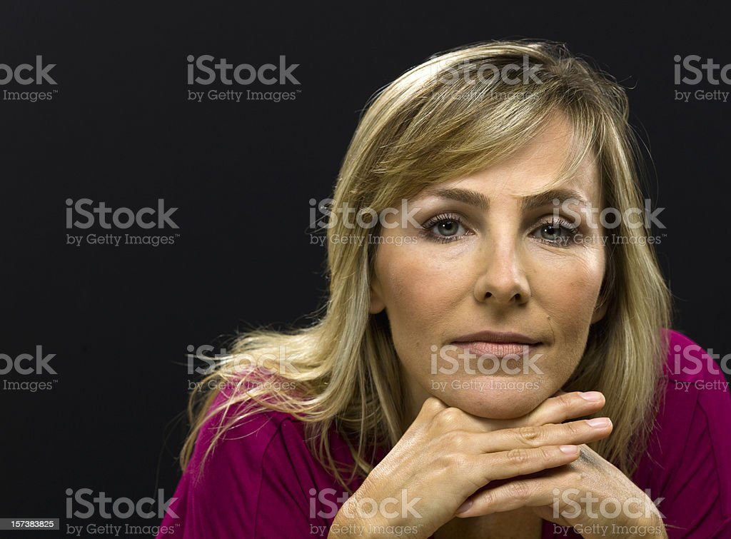 Beauty at her forties (no make up) royalty-free stock photo