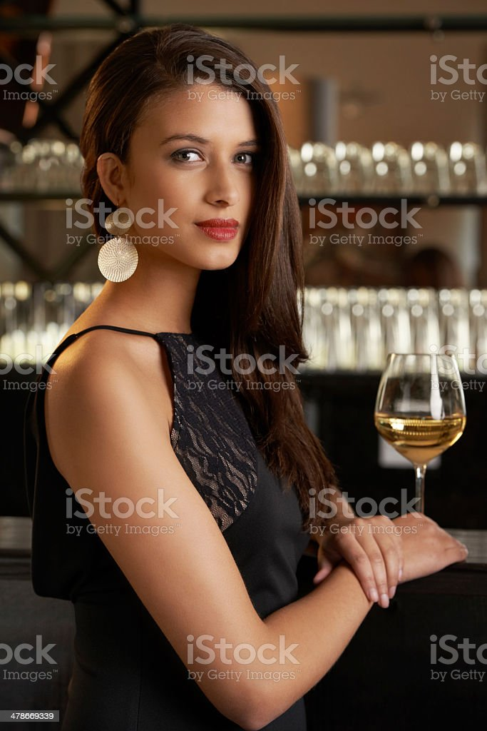 Beauty at the bar stock photo